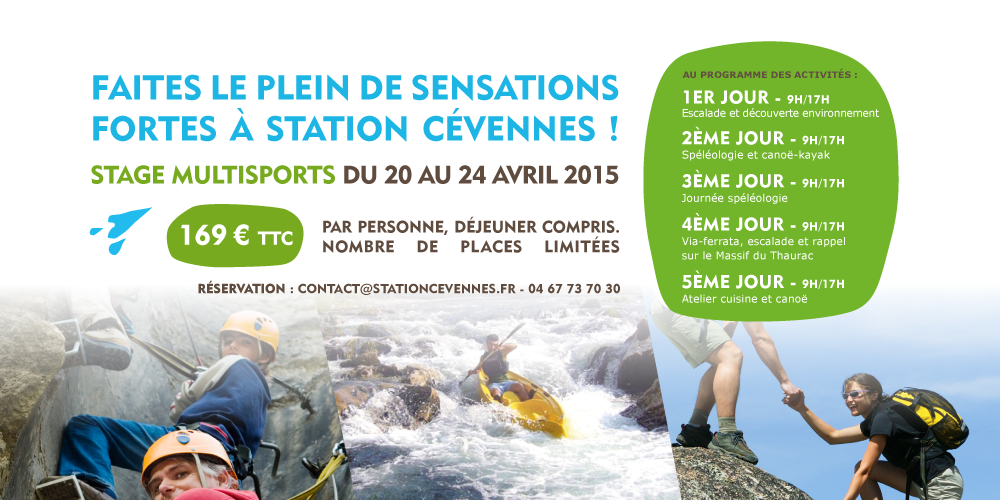 Post offre de stage multisports-Avril 2015