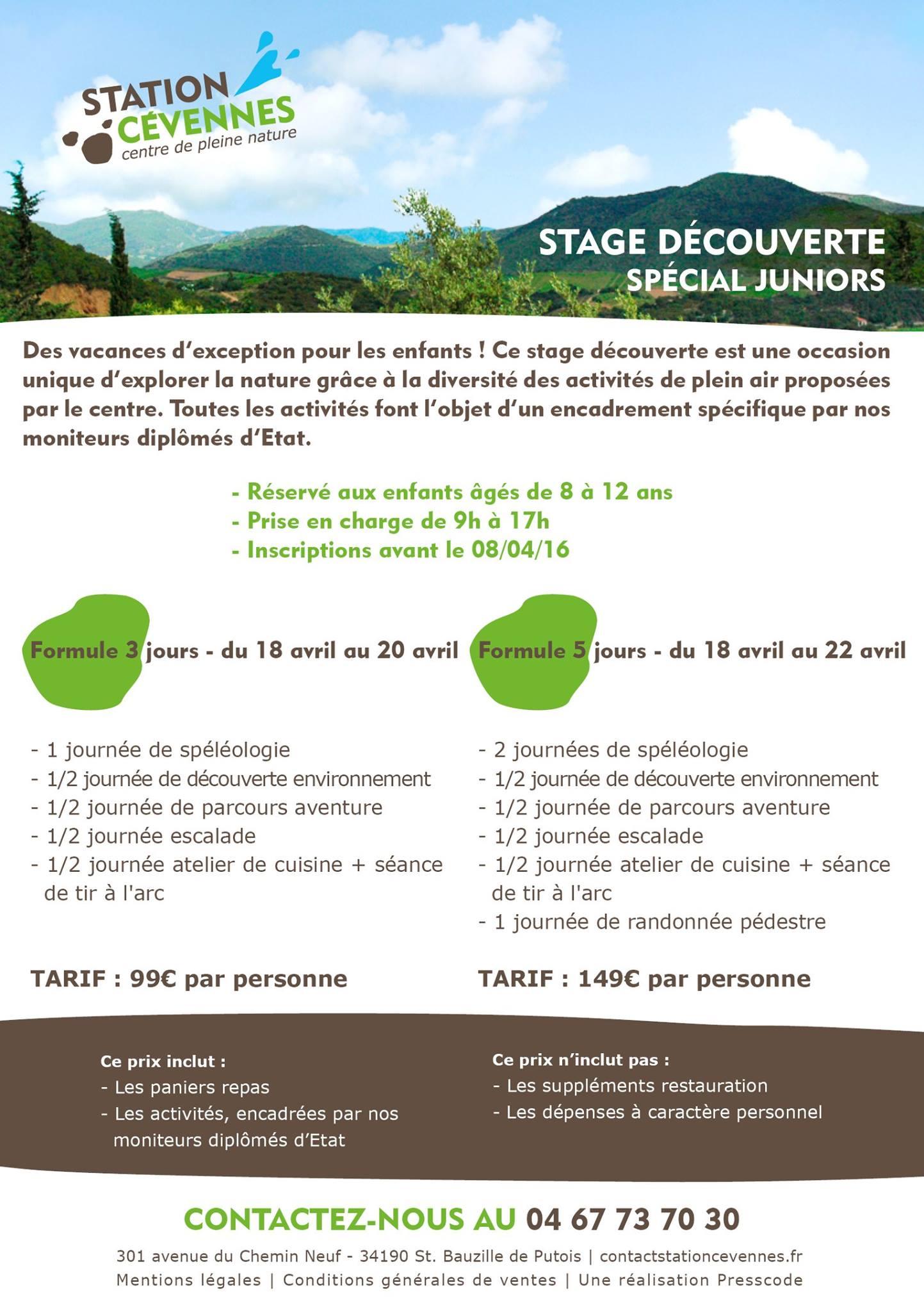 Stage Decouverte - Avril 2016